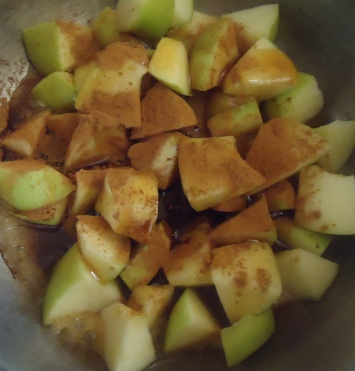 cook the apples