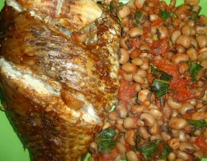 Quick and Easy Beans and Tilapia