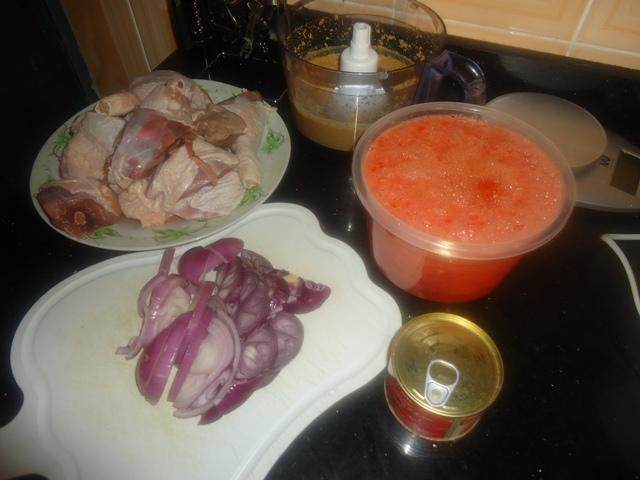 Ingredients for Chicken in Peanut Butter Stew
