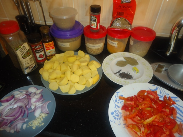 Making Extra Spicy Potatoes Recipe Ingredients
