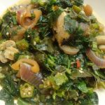 Okro Soup With Mushrooms