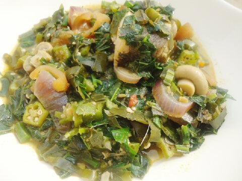 Okro Soup With Mushrooms Recipe