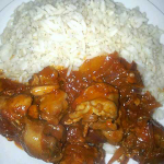 Making Chicken In Spicy Tomato Sauce and Garlic Rice