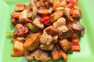 Pork and Plantains…A Play on Gizdodo