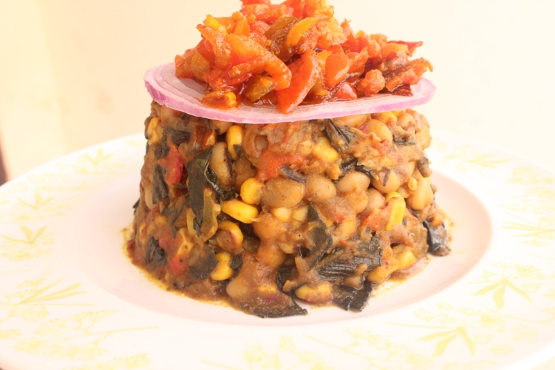 Beans and Corn Pottage (Not quite Adalu)