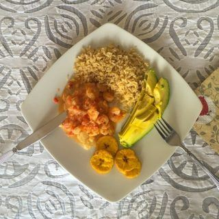Tilapia with Coconut and Shrimp