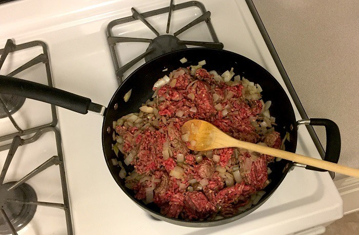 Onions and meat