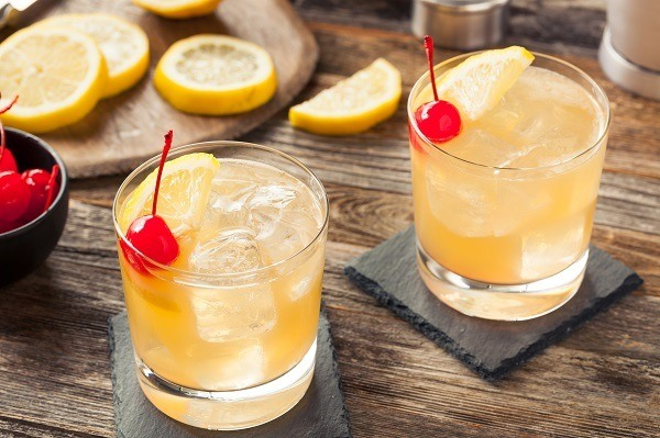Homemade Whiskey Sour Cocktail