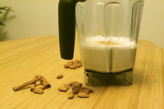 Milk in blender