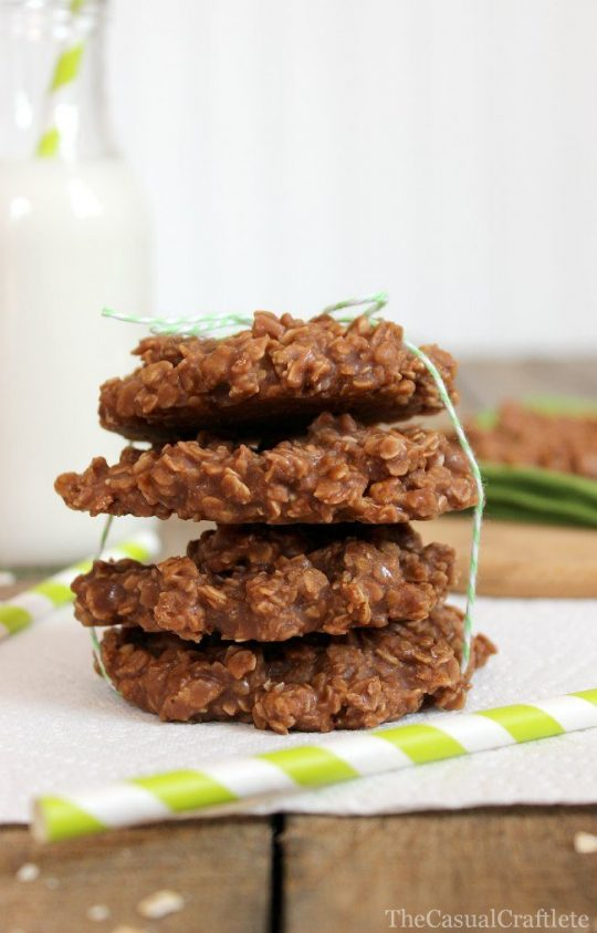 No Bake Cookies with Almond Milk by The Casual Craftlete